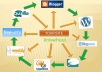 create Link Wheel in total 5 high PR websites for white hat seo only