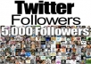 send you 5000 twitter followers express