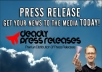 *****write a Press Release and submit it for syndication to gain your business, website or product valuable advertising and backlinks