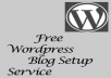 Create Free Wordpress Blog