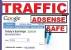 send you 1500 + real Adsense safe human visitors/traffic to your website with report. Get Unique Traffic from all over the world