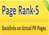 create 10 actual pagerank pr5 webpage backlinks