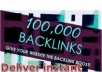 Give(2for1) you an instant backlink generator and GOOGLE app to force your website to the top page 