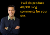 do  produce  40000 Blog comments for your site.