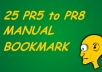 submit your website on 25 PR8 to PR5 Social Bookmarks MANUALLY@!@!!@!