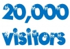 SEND KiLLEr SUCCESS★★20,000★★ YES 20K VISITORS★★to your WEBsite For TOP RANKING ONLY