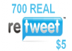 give you 700 REAL Twitter ReTWEETS