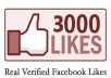 get 3,000 Real Verified facebook likes to any web link you provide me with in 4 days 