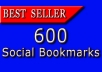 build 600 Social Bookmarks Backlinks To Your Site With Multiple Urls ..!!!!!