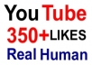 give you 350+ Guaranteed YouTube Likes [Real human] to your video within 36 hours