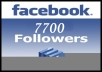 Get You 7700 Followers To your Facebook Account