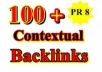  make 100 PR1 to PR8 Contextual Backlinks + 10000 Blog Comments + Report *****