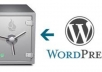create backup of your WordPress in 2 days securely and improve greatly site load speeds with CloudFlare