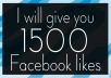 give 2000 facebook like for