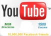 submit your video youtube to ★ 5000 directories ★ 1500 forum + post link 10 times to 10,500,000 friends in facebook groups + get more views *