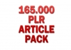 give you over 165000 PLR articles pack