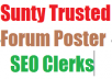 give 350 quality forum post