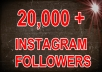 give you 20,000+ instagram followers to your account In 24 hour and without password