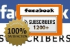 give you 1200+ facebook subscribers from real users 
