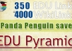 super edu Pyramid with 350 edu links and 4000 PR8 to PR3 SEO backlinks in tier2, highest authority