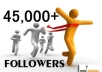 add 30,000+ TWITTER followers Or 20,000+++ Instagram followers, Us real looking to your link without password quickly within 12 hours 
