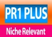 do 5 PR1 Plus High Quality niche relevant no follow blog comments manually