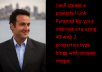 create a powerful Link Pyramid for your internet site using 40 web 2 properties type blogs with proper image