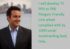 develop 75 PR3 to PR8 Penguin Friendly Link wheel complied with by 1000 social bookmarking back links