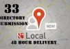 add your business citations in 33 USA top local directories manually for google local seo