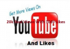 Get You 20k+ 100% (Real Youtube) Views With 100+ Likes