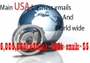 give new and fresh 8+ million usa business mans e mail list with csv type files