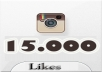 get you 15000 TopQuality Real Looking INSTAGRAM likes in less then 12 hours