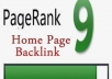 give you a homepage link on my PR9 site as a guest post or blogroll link 