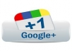 Give you 100+10 verified google+1 vote on your website,guaranteed work Only