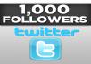give you 1000+ twitter followers no need your password