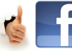 I will give you 3000+ real facebook likes for webpage