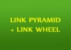 create Link PYRAMID + link wheel with unique articles (Best Off Page Pyramid)