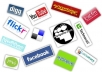 do 100+ social bookmarking submission sites with including top 10 sites like folkd, diggo, friendfeed, bebo, delicious, reditt