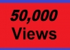 deliver 50,000+ youtube views, guaranteed youtube views