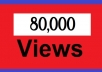 deliver 80,000+ youtube views, guaranteed youtube views