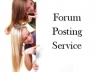 maNUALLY make 10 dofollow, very effective quality forum posts/comments backlinks for your website