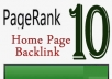 place a PR10 Permanent blogroll link sitewide and dofollow seo on a PR10 homepage