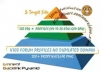 build eminent backlink pyramid with 5000 profiles,most dofollow,include some edu gov,good seo for youtube by using xrumer senuke scrapebox..........