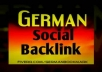 boost your keyword in germany with 40 high pr social sites, unique way to attract german traffic,live bookmarked links hosted in germany ..@