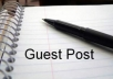 do Guest Post on 7 Tech blogs with one backlink from each site..@