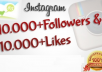 get You 10,000 Instagram Followers and 8000 Instagram Likes to your instagram account, super fast