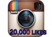 Add 20,000 Instagram likes photo to your instagram account, super fast