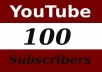 Give you 100 Guaranteed Real Human Youtube Subscribers