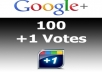 get you 100 google PLUS +1 one votes
