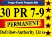 create ►20 PR9 ◄high Page Rank baclinks frm different high authority sites[DoFollow,Anchor Text,Panda Penguin Frindly]to get u top of google
